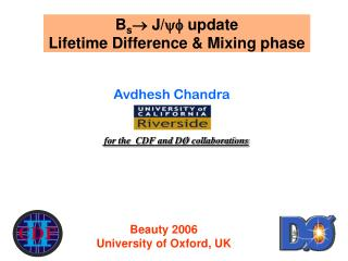 B s  J/ update  Lifetime Difference & Mixing phase