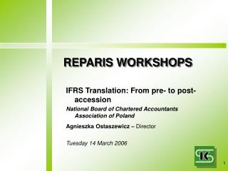 REPARIS WORKSHOPS