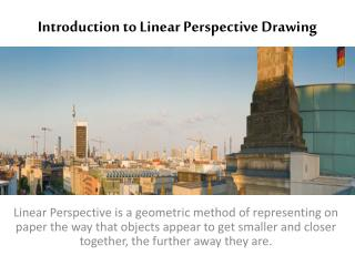 Introduction to Linear Perspective Drawing