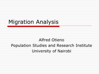 Migration Analysis
