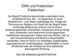 ÖRK und Freikirchen