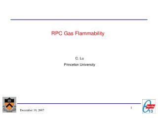 RPC Gas Flammability
