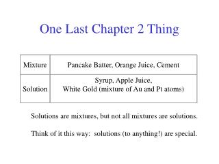 One Last Chapter 2 Thing
