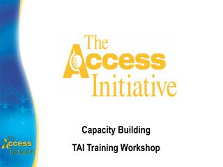 Capacity Building TAI Training Workshop
