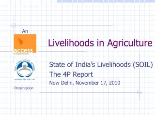 Livelihoods in Agriculture