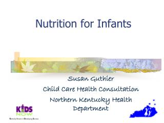 Nutrition for Infants