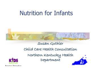 Nutrition for Infants