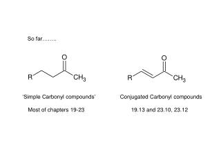 'Simple Carbonyl compounds'