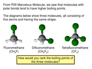 How would you rank the boiling points of the three molecules ?