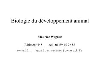 Biologie du développement animal