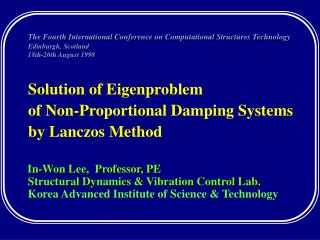 Solution of Eigenproblem  of Non-Proportional Damping Systems by Lanczos Method