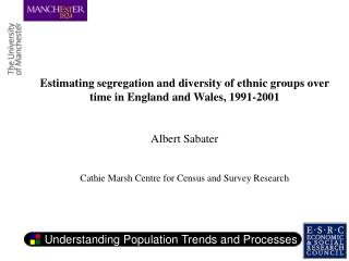 Estimating segregation and diversity of ethnic groups over time in England and Wales, 1991-2001