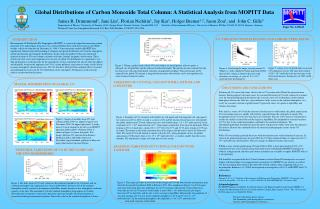Global Distributions of Carbon Monoxide Total Column: A Statistical Analysis from MOPITT Data