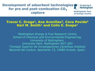 Development of adsorbent technologies for pre and post-combustion CO 2  capture