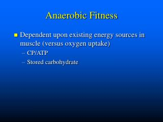 Anaerobic Fitness