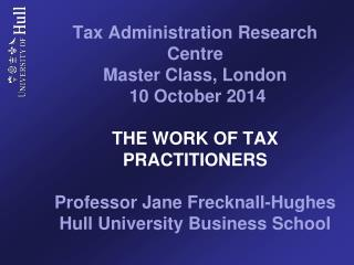 The work of tax practitioners