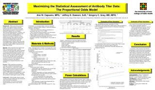 Maximizing the Statistical Assessment of Antibody Titer Data:  The Proportional Odds Model