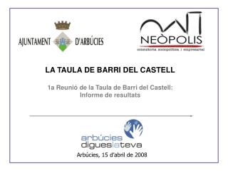 LA TAULA DE BARRI DEL CASTELL 1a Reunió de la Taula de Barri del Castell: Informe de resultats