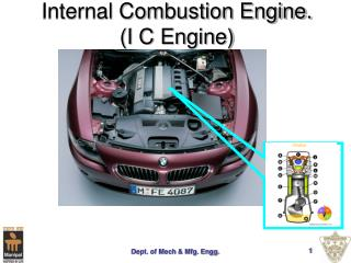 Internal Combustion Engine. (I C Engine)