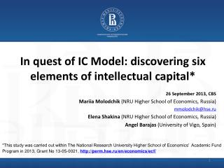 In quest of IC Model: discovering six elements of intellectual capital*