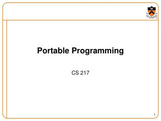 Portable Programming