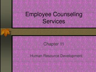 Employee Counseling Services