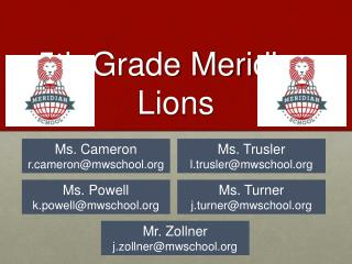 5th Grade Meridian  Lions