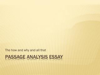 Passage Analysis Essay