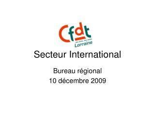 Secteur International