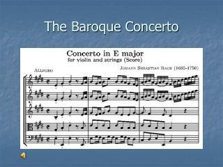 The Baroque Concerto