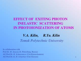 EFFECT OF  EXITING PHOTON  INELASTIC  SCATTERING        IN PHOTOIONIZATION OF ATOMS
