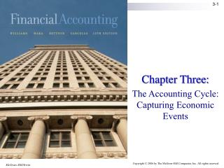 Chapter Three:  The Accounting Cycle: Capturing Economic Events