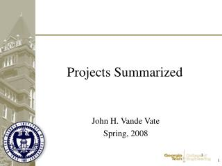 Projects Summarized