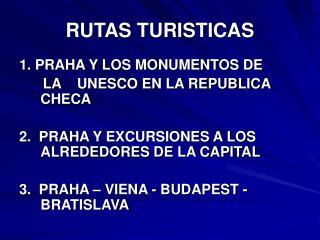 RUTAS TURISTICAS