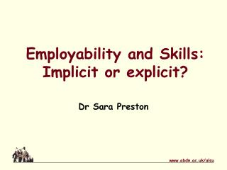 Employability and Skills: Implicit or explicit