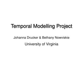 Temporal Modelling Project