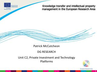 Knowledge transfer and intellectual property management in the European Research Area