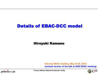 Details of EBAC-DCC model