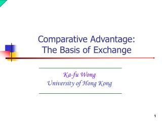 Ka-fu Wong University of Hong Kong