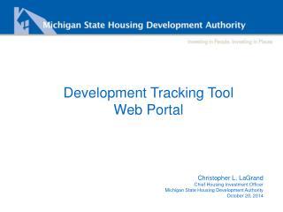 Development Tracking Tool Web Portal