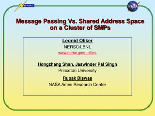 Message Passing Vs. Shared Address Space on a Cluster of SMPs