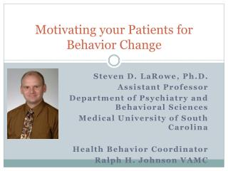 Motivating your Patients for Behavior Change