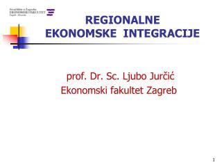 REGIONALNE  EKONOMSKE  INTEGRACIJE