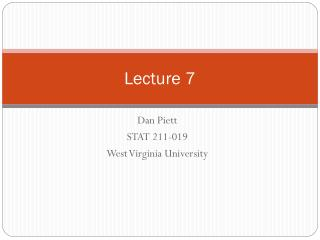 Lecture 7