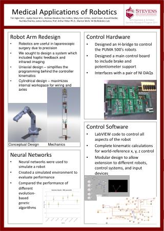 Robot Arm Redesign Robotics are useful in laparoscopic surgery due to precision