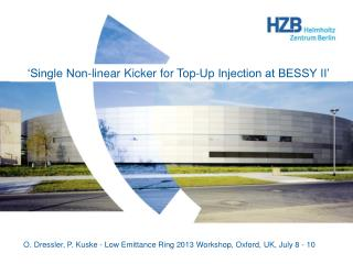 �Single Non-linear Kicker for Top-Up Injection at BESSY II�