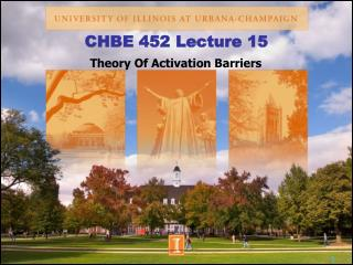 CHBE 452 Lecture 15