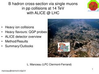 B hadron cross-section via single  muons in pp collisions at 14 TeV with ALICE @ LHC