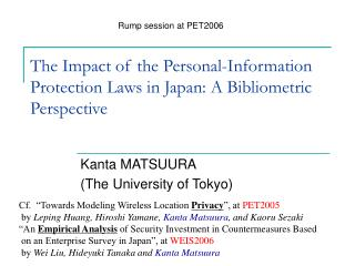 The Impact of the Personal-Information Protection Laws in Japan: A Bibliometric Perspective