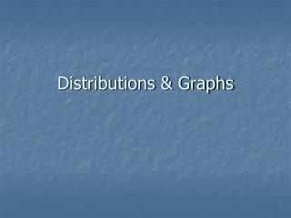 Distributions & Graphs